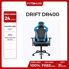 GHẾ GAMING DRIFT DR400 BLACK/BLUE/WHITE