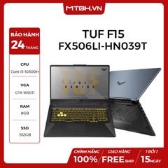 LAPTOP GAMING ASUS TUF F15 FX506LI-HN039T CORE I5 10300H |GTX 1650TI | 8GB RAM | 512GB SSD | 15.6″ 144HZ IPS | WIN 10 | GRAY METAL RGB