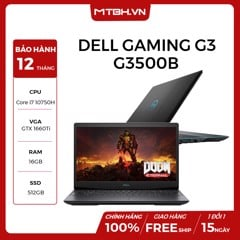 LAPTOP DELL GAMING G3 3500 (G3500B) i7-10750H | 16GB | 512GB | VGA GTX 1660Ti 6GB | 15.6