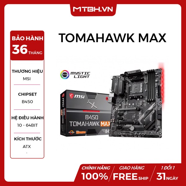 MAIN MSI B450 TOMAHAWK MAX (AMD) NEW