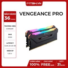 RAM DDR4 32GB CORSAIR VENGEANCE RGB BUSS 3200Mhz (KIT 2*16)
