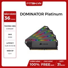 RAM DDR4 32GB CORSAIR 3200Mhz DOMINATOR Platinum RGB (KIT 2*16GB)