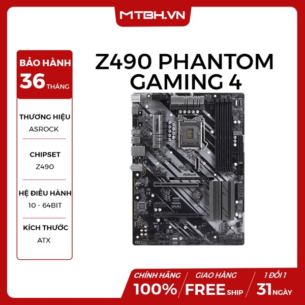 MAIN ASROCK Z490 PHANTOM GAMING 4