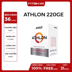 CPU AMD ATHLON 220GE (SOCKET AM4, 2C 4TH, 3.4Ghz) NEW BOX