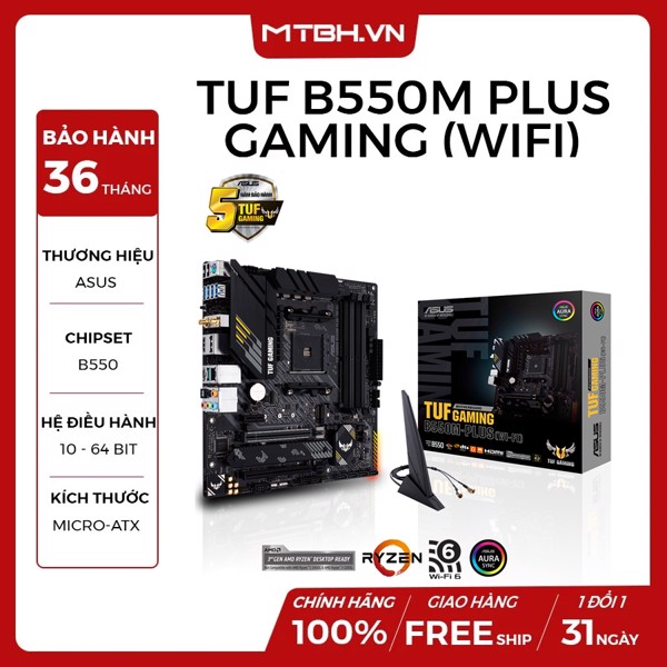 MAIN ASUS TUF B550M - PLUS GAMING (WI-FI) (AMD)