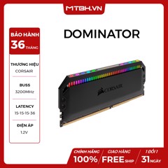 RAM DDR4 8GB CORSAIR 3200Mhz DOMINATOR Platinum RGB (KIT 2*8GB)