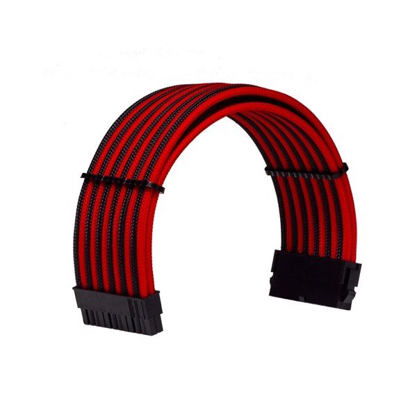 COMBO DÂY CABLE SLEEVING BLACK - INTERLEAVED - RED