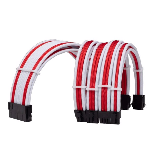 COMBO DÂY CABLE SLEEVING WHITE - RED
