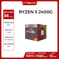 CPU AMD RYZEN 5 2400G 4C/8T 3.6Ghz (TURBO 3.9Ghz)