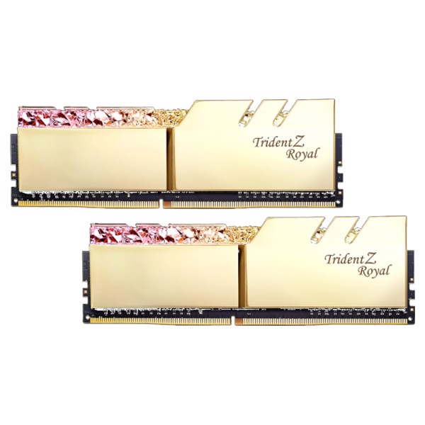 RAM DDR4 16GB GSKILL TRIDENTZ ROYAL GOLD RGB BUSS 3200Mhz (KIT 2*8GB)