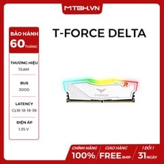 RAM DDR4 8GB TEAM T-FORCE Delta Buss 3000 RGB NEW BH 60TH (WHITE)