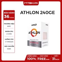 CPU AMD ATHLON 240GE (SOCKET AM4 , 2C 4TH , 3.5Ghz) NEW BOX
