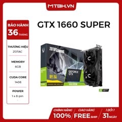 VGA ZOTAC GTX 1660 SUPER GAMING TWIN FAN GDDR6