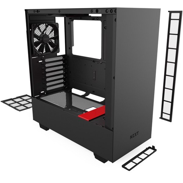 CASE NZXT H510 BLACK/RED