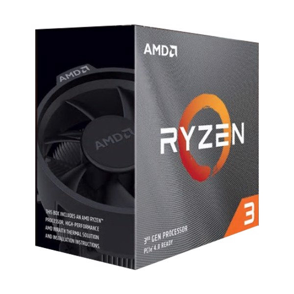 CPU AMD Ryzen 3 3300X with Wraith Spire cooler/ 3.8 GHz (4.3GHz Max Boost) / 16MB Cache / 4 cores / 8 threads / 65W / Socket AM4