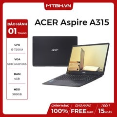 LAPTOP ACER Aspire A315 51 52AB i5 7200U/4GB/500GB/Win10/(NX.GNPSV.018) BH 1TH LIKE NEW