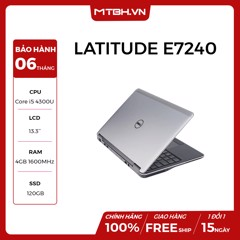 LAPTOP DELL LATITUDE E7240 I5 4300U, RAM 4GB, SSD 128GB LIKE NEW FULL BOX BẢO HÀNH 06TH