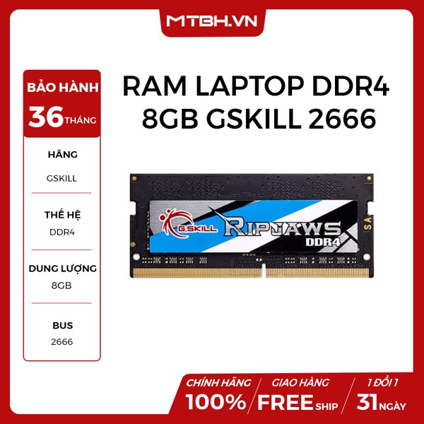 RAM LAPTOP DDR4 8GB GSKILL BUSS 2666