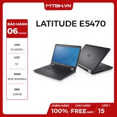 LAPTOP DELL LATITUDE E5470 Core I5-6300U, RAM 8GB ,SSD 256GB LIKE NEW FULL BOX BH 06TH