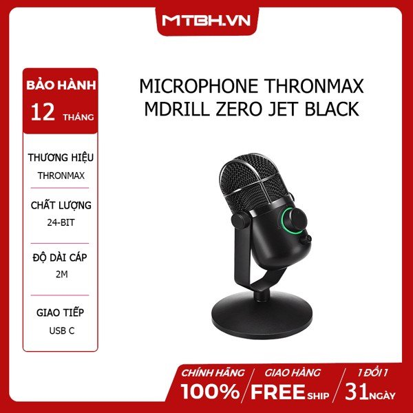MICROPHONE THRONMAX MDRILL DOME PLUS JET BLACK