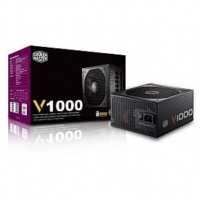 PSU COOLER MASTER 1000W V1000 FULL MODULER CAO CẤP 80 PLUS GOLD