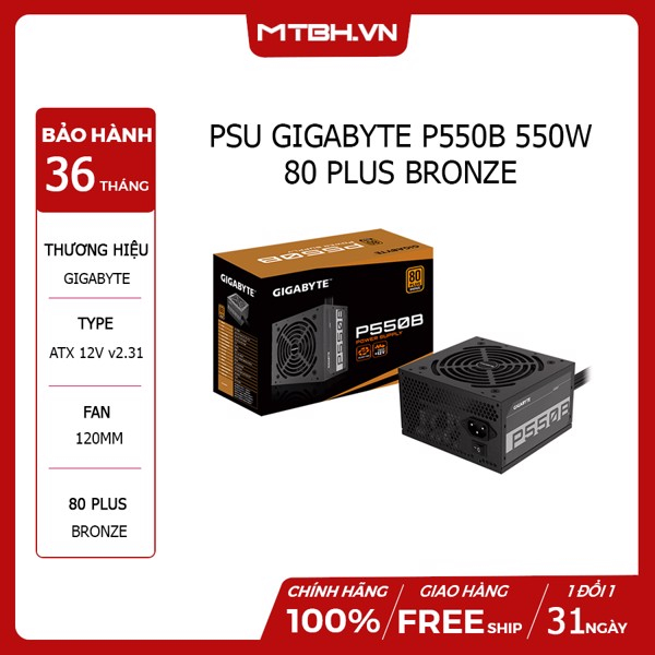 PSU GIGA P550B 550W 80 PLUS BRONZE