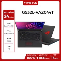 LAPTOP ASUS GAMING ROG STRIX SCAR 15 G532L-VAZ044T GEFORCE RTX 2060 6GB INTEL CORE I7 10875H 16GB 1TB 15.6″ FHD IPS 240HZ 3MS PERKEY RGB WIN 10