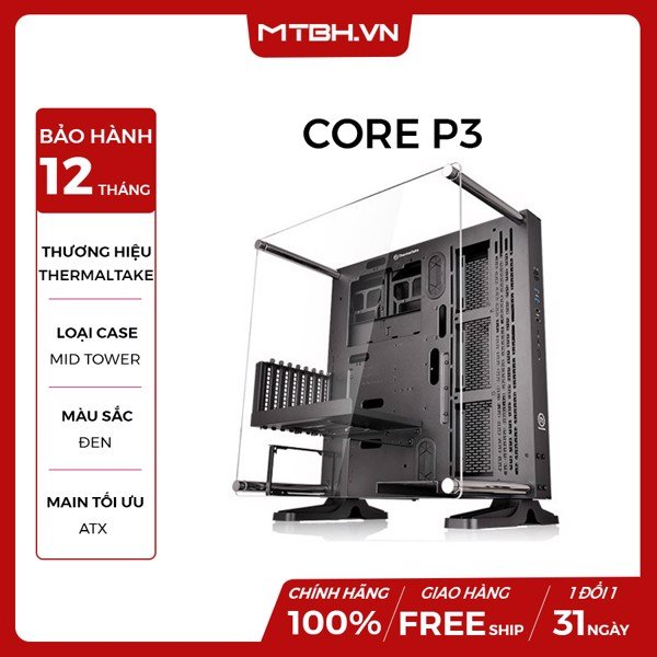CASE Thermaltake Core P3 BLACK EDITION