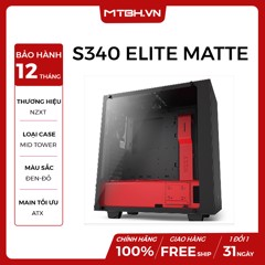 CASE NZXT S340 ELITE MATTE MID TOWER BLACK/RED
