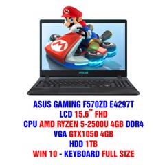LAPTOP GAMING ASUS F570ZD E4297T AMD R5-2500 4GB 15.6