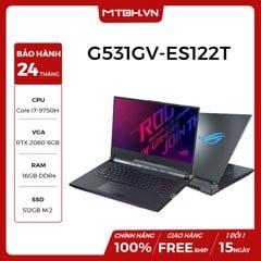 LAPTOP GAMING ASUS ROG STRIX SCAR III G531GV-ES122T Geforce RTX 2060 6GB Intel Core i7 9750H 16GB 512GB 15.6″ FHD IPS 144Hz 3ms Perkey RGB Win 10
