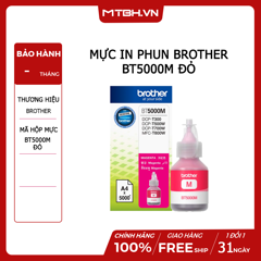 MỰC IN PHUN BROTHER BT5000M ĐỎ