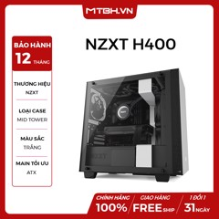 CASE NZXT H400 SMART MATX WHITE