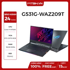 LAPTOP ASUS GAMING ROG STRIX SCAR III G531G-WAZ209T GEFORCE RTX 2070 8GB INTEL CORE I7 9750H 16GB 1TB 15.6″ FHD IPS 240HZ 3MS PERKEY RGB WIN 10
