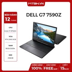 LAPTOP DELL GAMING G7 INSPIRON 7590 N7590Z GEFORCE RTX 2060 6GB INTEL CORE I7 9750H 256GB 1TB HDD 16GB 15.6 FHD IPS 144HZ WIN 10