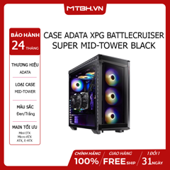 CASE ADATA XPG BATTLECRUISER SUPER MID-TOWER BLACK