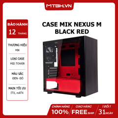 CASE MIK NEXUS M BLACK RED