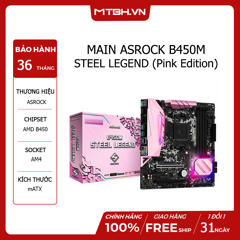 MAIN ASROCK B450M STEEL LEGEND (Pink Edition)