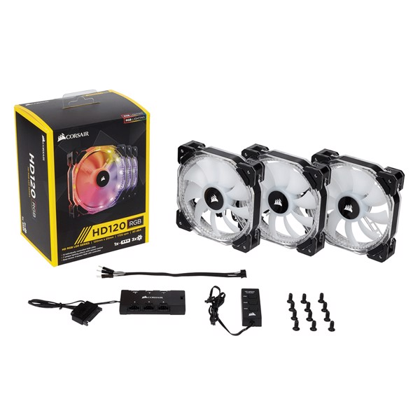 FAN CASE CORSAIR HD120 RGB (3 FAN + HUB)