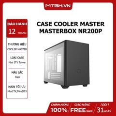 CASE COOLER MASTER MASTERBOX NR200P BLACK MINI ITX TOWER