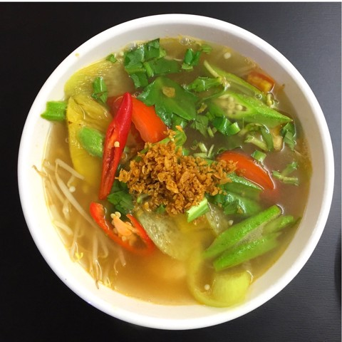 Canh chua ngũ sắc (Vegetable sour & sweet soup)