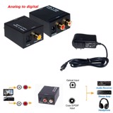 ADC-AD102 Audio converter analog to digital rate 48Khz, AV ra Coxial, To slink