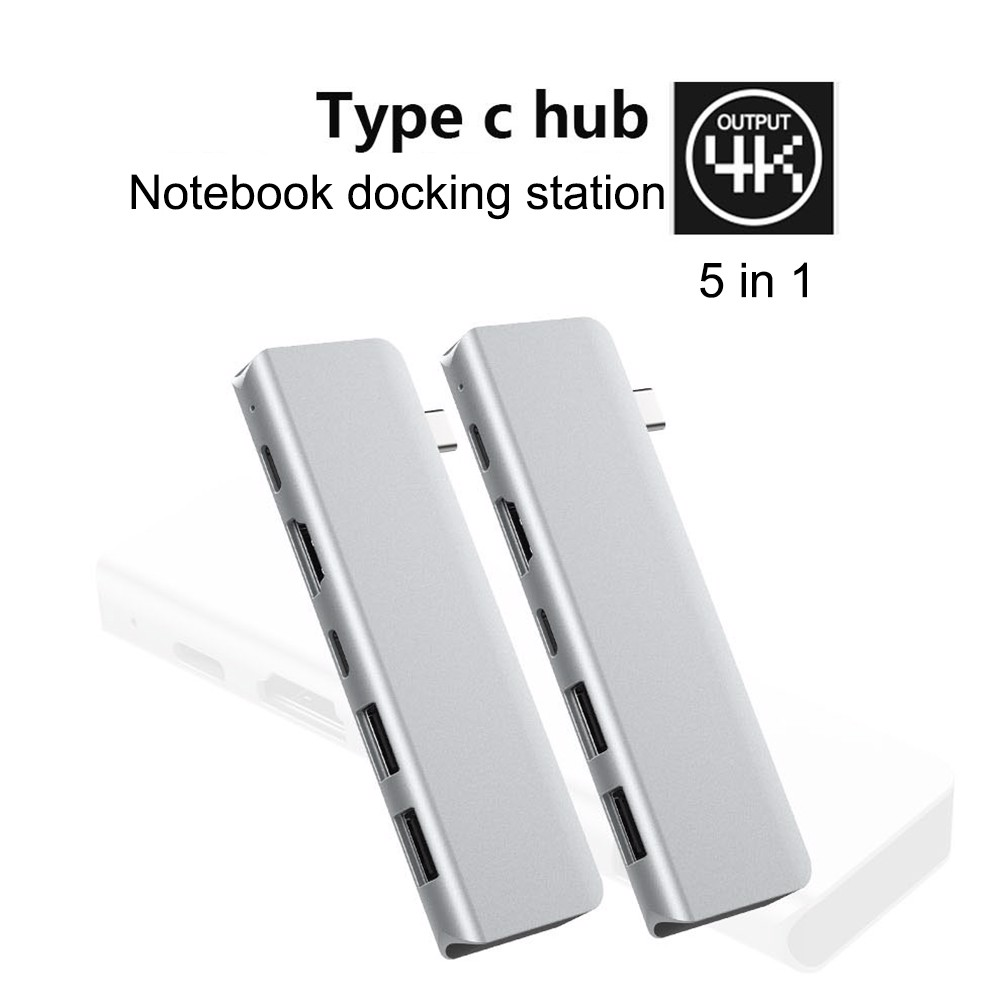 Hub usb type pc 5in1-4 Hdmi, usb, pd