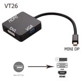 Cáp mini dp to HDMI/VGA/DVI, mini displayport ra 3 cổng -  MTVT26