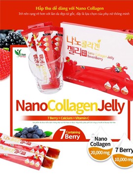 Collagen Vi Hạt Dạng Thạch Chiết Xuất Berry, Nano Collagen Jelly Sevenberry