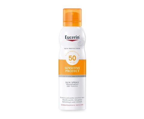 Xịt Chống Nắng Eucerin Sun Spray Transparent Dry Touch Sensitive Protect SPF 50
