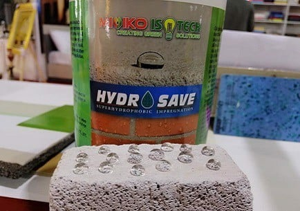 HYDROSAVE: Innovative hydrophobic impregnation for building materials