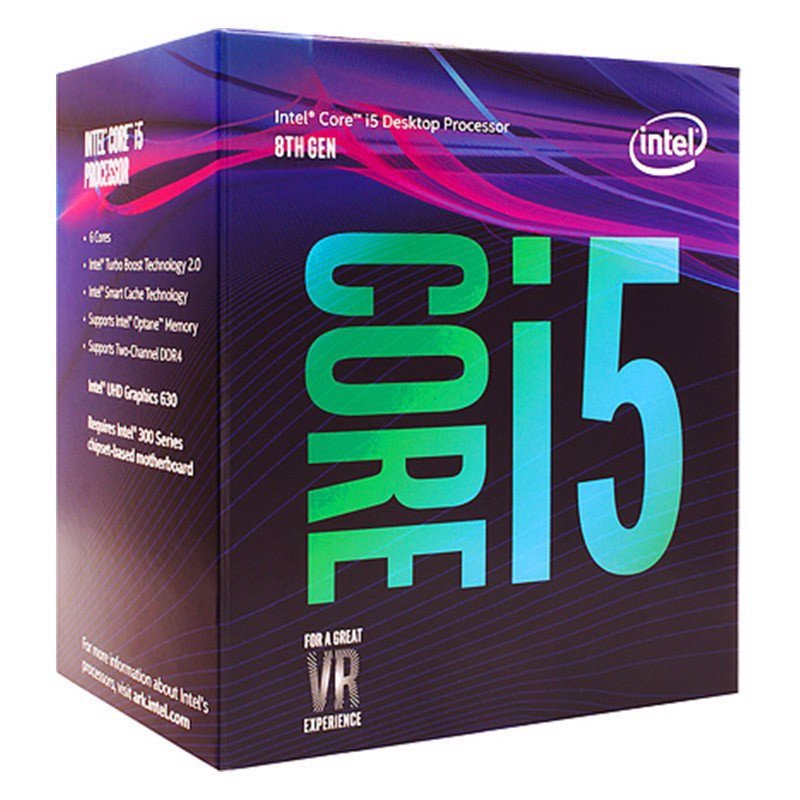 CPU INTEL CORE I5 8400 2.8GHZ TURBO UP TO 4GHZ / 9MB / 6 CORES, 6 THREADS / SOCKET 1151 V2 (COFFEE LAKE )