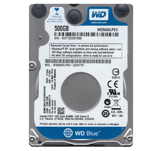 Ổ cứng laptop 500GB WD Blue WD5000LPCX