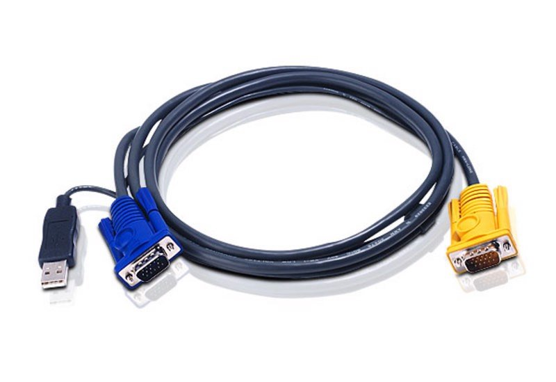 ATEN 2L-5202UP CÁP KVM CHUẨN USB TO SPHD-15 INTELLIGENT CABLE-1,8M